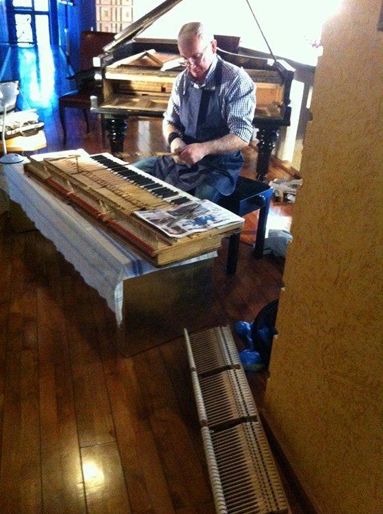 ремонт и реставрация рояля