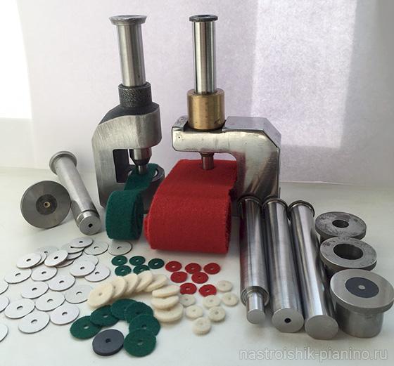 Оборудование для изготовления друкшайбы и флейки из сукна и бумаги