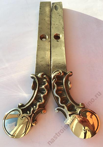 бронзовые литые педали от пианино середины 18 века